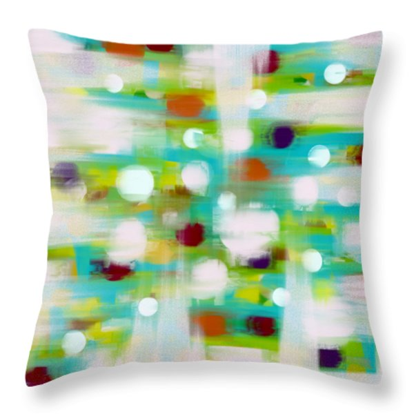 Throw Pillow featuring the painting Where Many Flowers Grow by Frank Tschakert