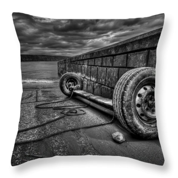 Where The Roads End... Throw Pillow by Evelina Kremsdorf