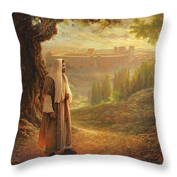 Wherever He Leads Me Throw Pillow by Greg Olsen