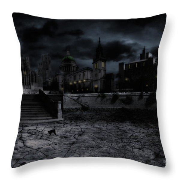 Whilst The City Sleeps Throw Pillow by John Edwards