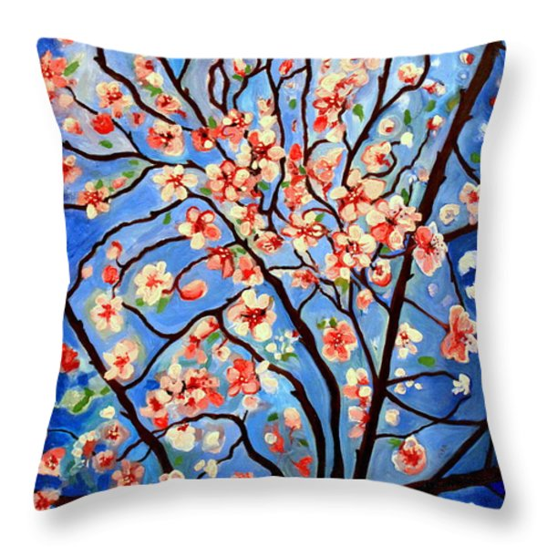 Whimsical Throw Pillow by Elizabeth Robinette Tyndall