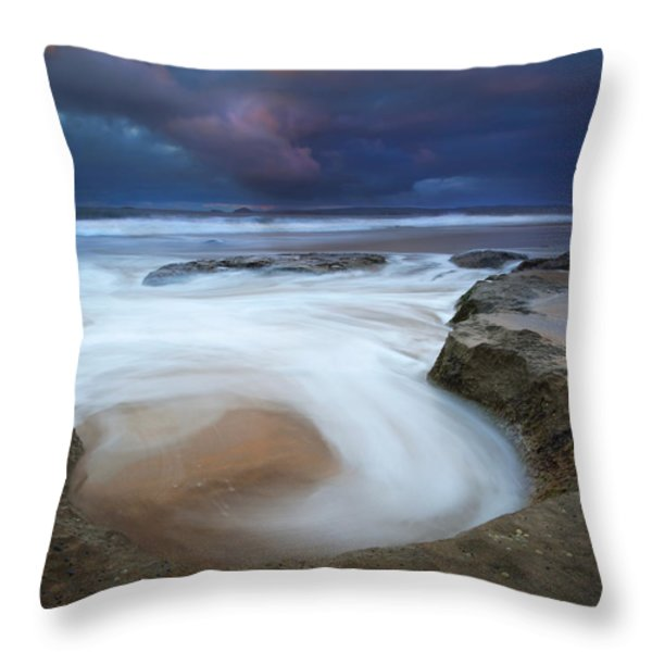 Whirlpool Dawn Throw Pillow by Mike  Dawson