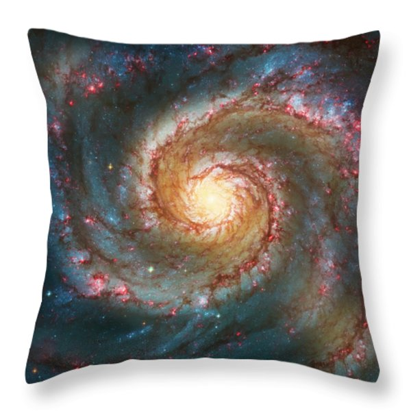 Whirlpool Galaxy  Throw Pillow by The  Vault - Jennifer Rondinelli Reilly
