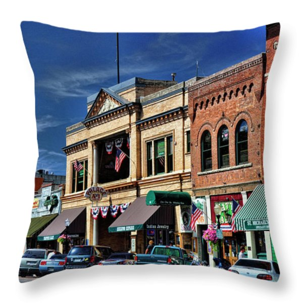 Whiskey Row - Prescott  Throw Pillow by Saija  Lehtonen
