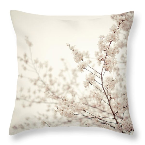 Whisper - Spring Blossoms - Central Park Throw Pillow by Vivienne Gucwa