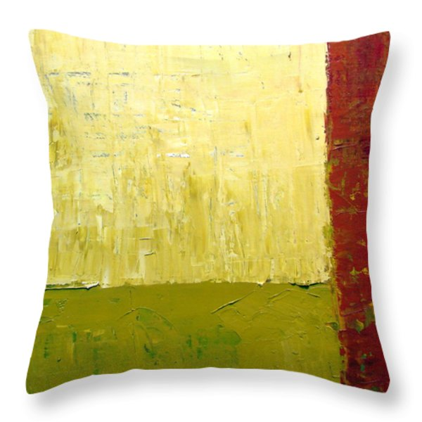 White Green And Red Throw Pillow by Michelle Calkins