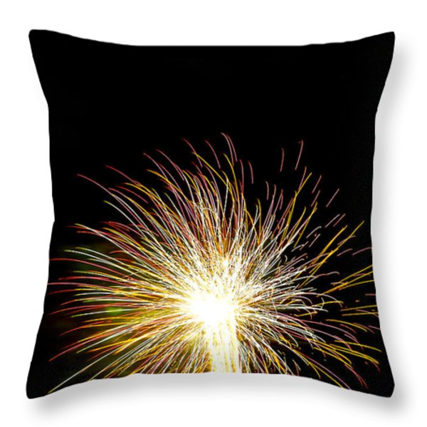 White Hot Throw Pillow by Phill  Doherty