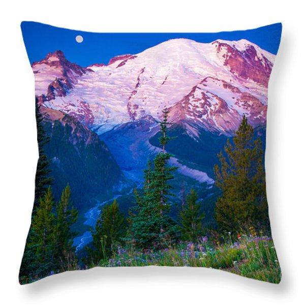 White River Predawn Throw Pillow by Inge Johnsson