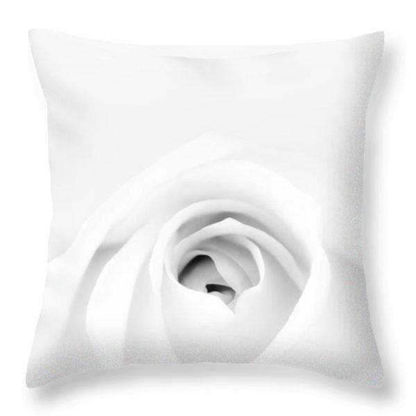 White Rose Throw Pillow by Scott Norris