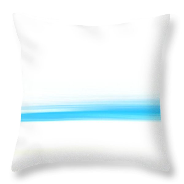 Throw Pillow featuring the painting White Sand And Blue Sea by Frank Tschakert