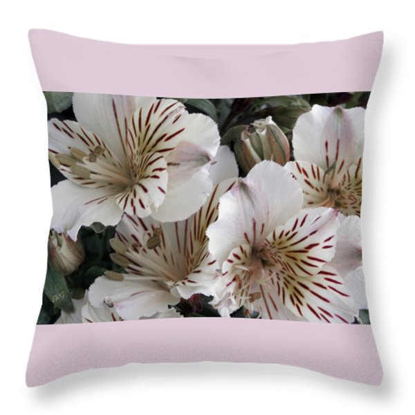White Tiger Azalea Throw Pillow by Ben and Raisa Gertsberg