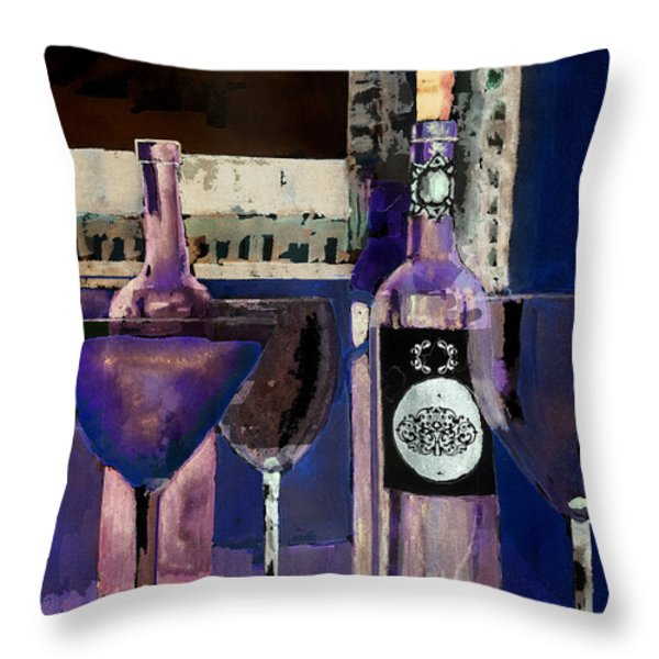White Wine Inverted Throw Pillow by Arline Wagner