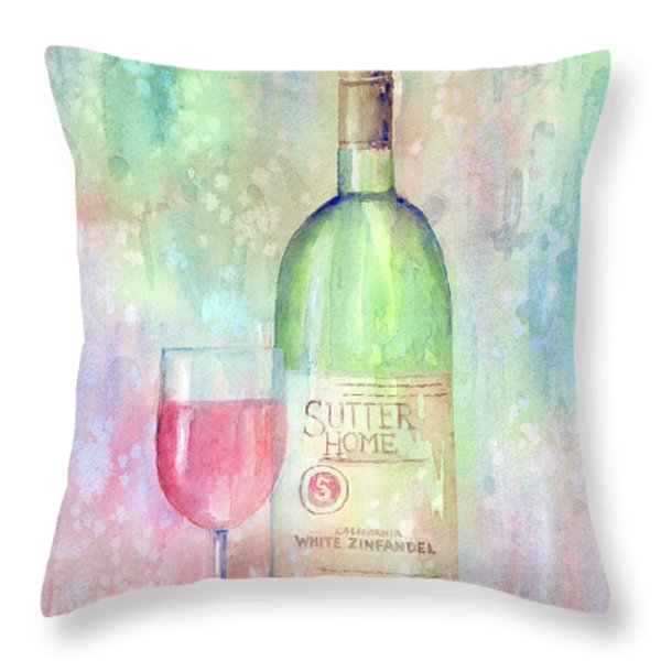 White Zinfandel Throw Pillow by Arline Wagner