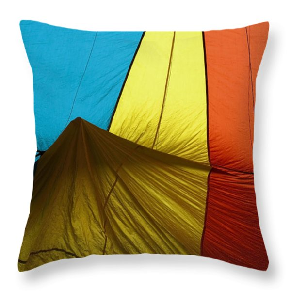 Who landed this balloon on me Throw Pillow by Mike  Dawson