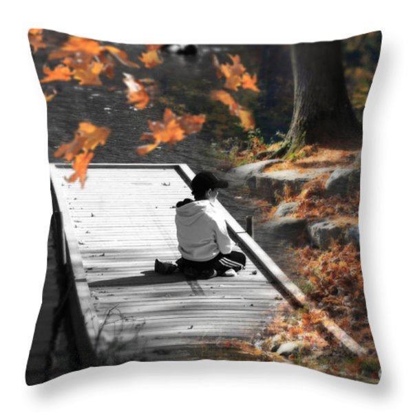 Why Does Everything Have To Change Throw Pillow by Cathy  Beharriell