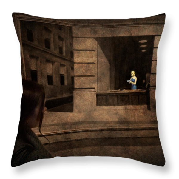 Why Is She Looking At Me Throw Pillow by Loriental Photography