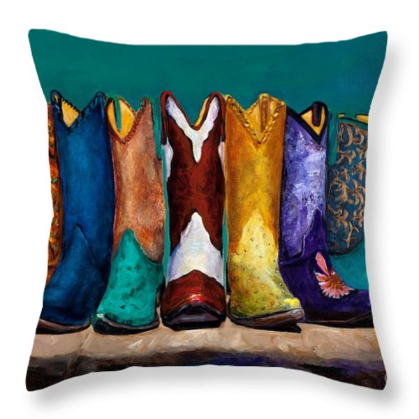 Why Real Men Want to be Cowboys 2 Throw Pillow by Frances Marino