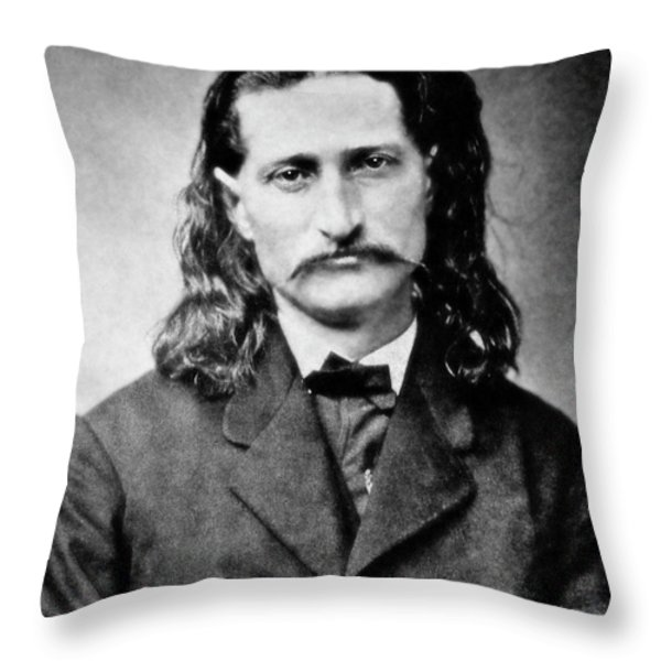 WILD BILL HICKOK - AMERICAN GUNFIGHTER LEGEND Throw Pillow by Daniel Hagerman