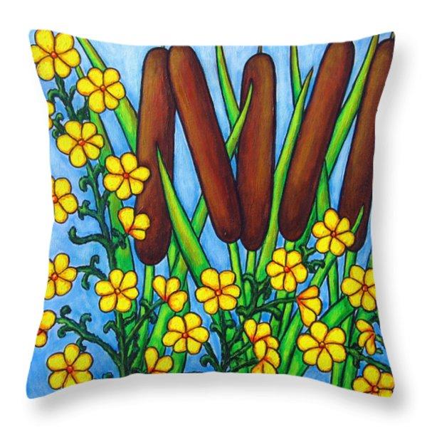 Wild Medley Throw Pillow by Lisa  Lorenz