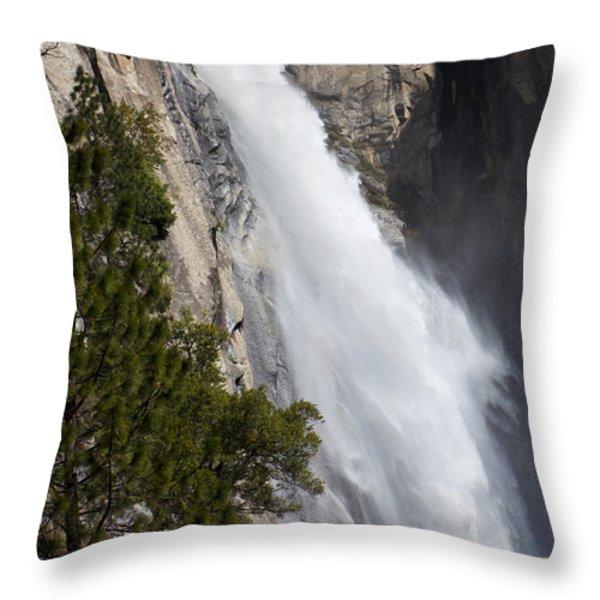 Wildcat falls  Throw Pillow by Garry Gay
