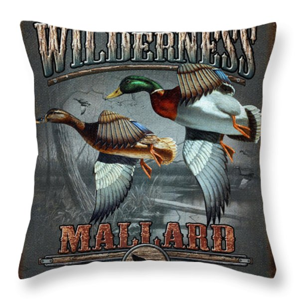 Wilderness mallard Throw Pillow by JQ Licensing