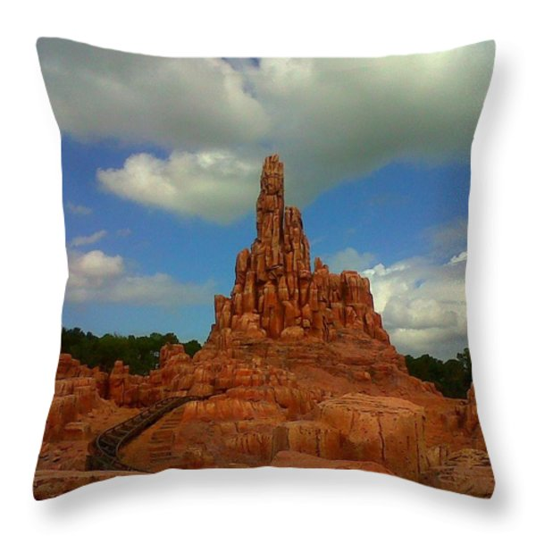 Wildest Ride Throw Pillow by Rachel E Moniz