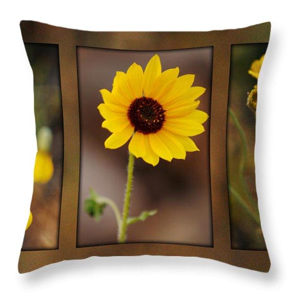 Wildflower 3 Throw Pillow by Jill Reger