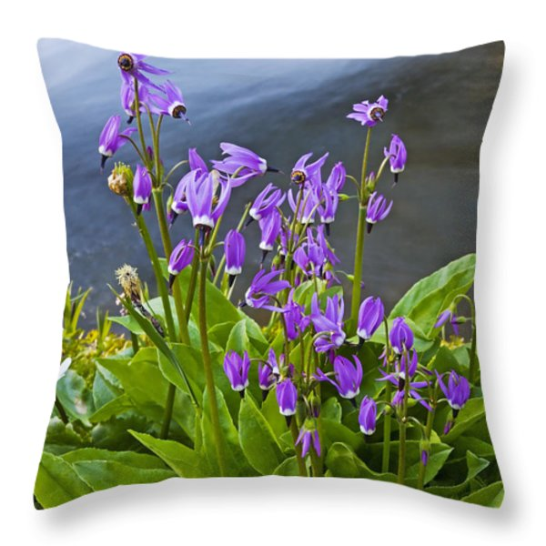 Wildflower Cascade Throw Pillow by Mike  Dawson