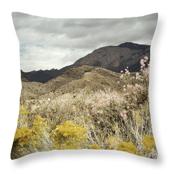 Wildflower Mountain Throw Pillow by Andrea Hazel Ihlefeld