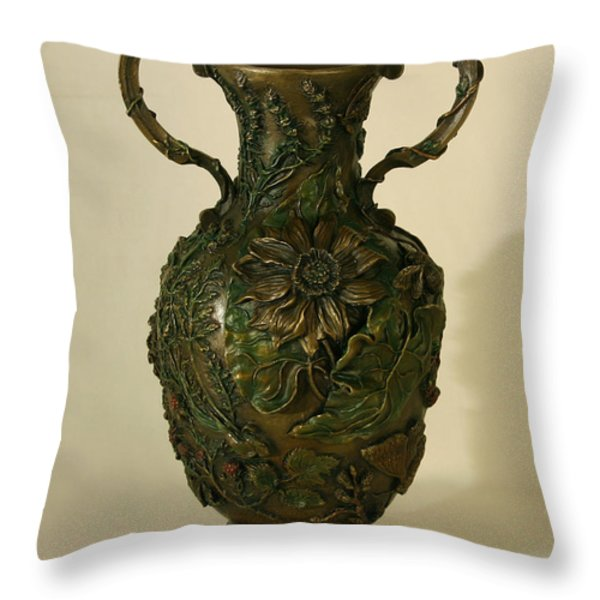 Wildflower Vase Balsamroot Side Throw Pillow by Dawn Senior-Trask