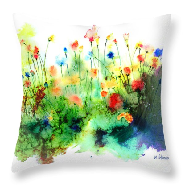 Wildflowers Throw Pillow by Arline Wagner