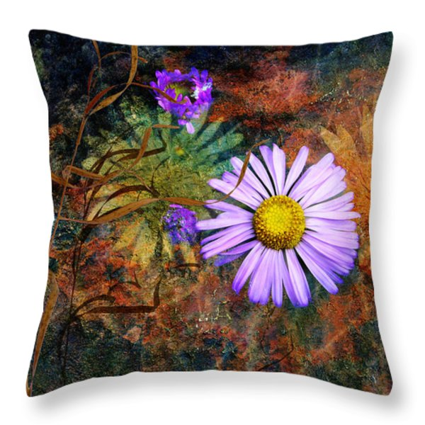 Wildflowers Throw Pillow by Ed Hall