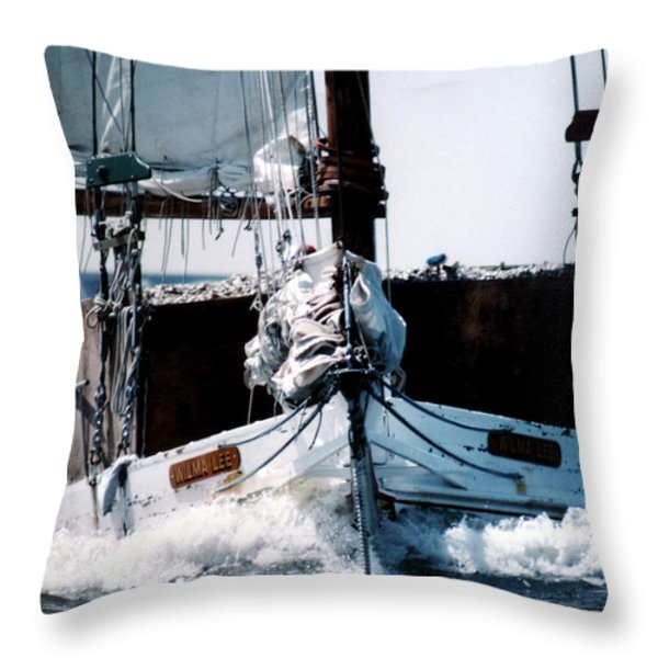 WILMA LEE Throw Pillow by Skip Willits