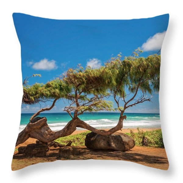 Wind Blown Tree Throw Pillow by Brian Harig