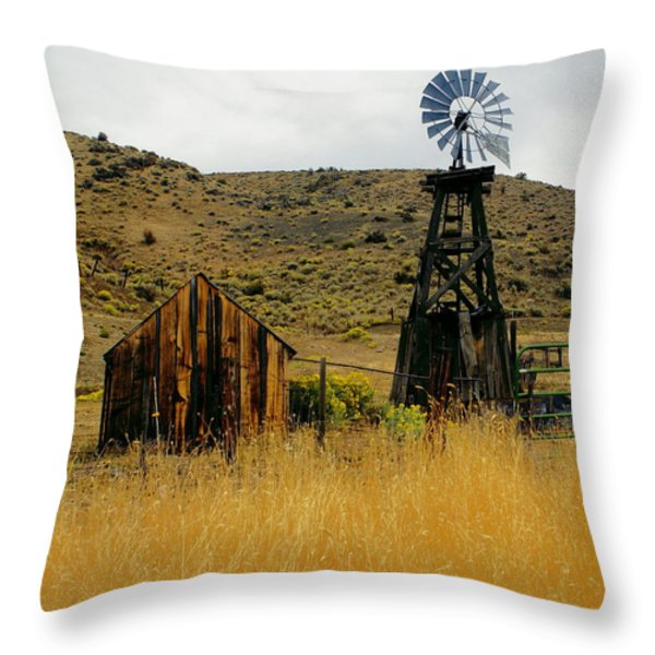 Windmill 2 Throw Pillow by Marty Koch