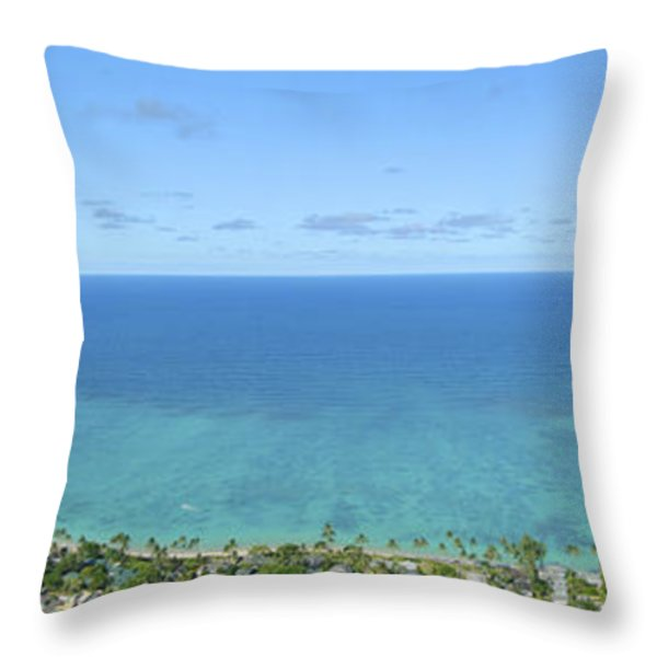 Windward Oahu Panorama II Throw Pillow by David Cornwell/First Light Pictures, Inc - Printscapes