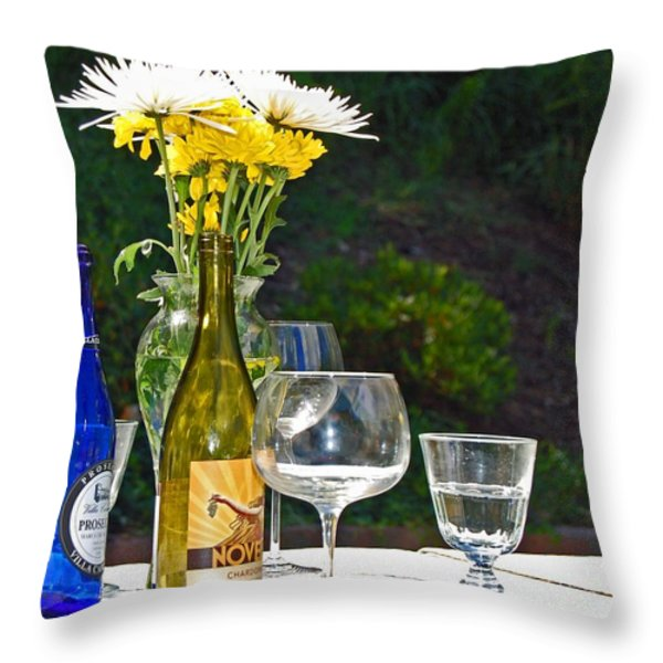 Wine Me Up Throw Pillow by Debbi Granruth