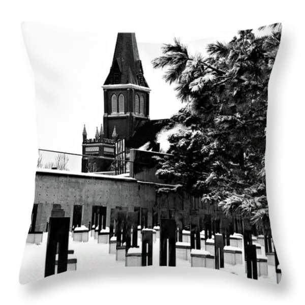 Winter Chairs Throw Pillow by Lana Trussell