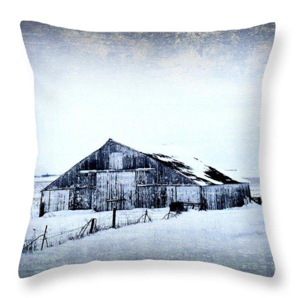 Winter Scene Throw Pillow by Julie Hamilton