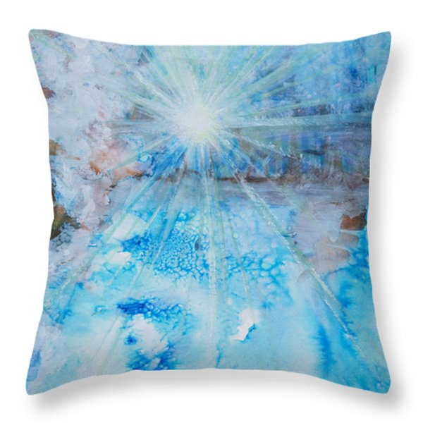 Winter Scene Throw Pillow by Tara Thelen