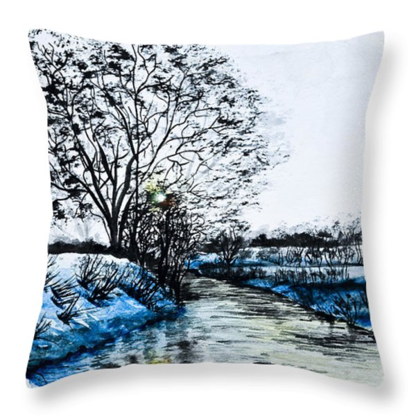 Winter Time Throw Pillow by Svetlana Sewell