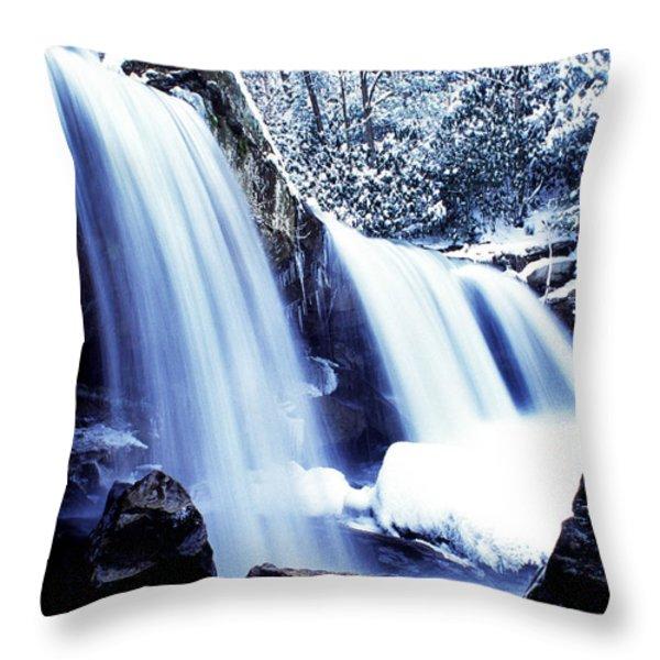Winter Waterfall Throw Pillow by Thomas R Fletcher
