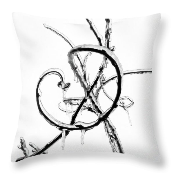Wisteria Ice Throw Pillow by Steve Rudolph