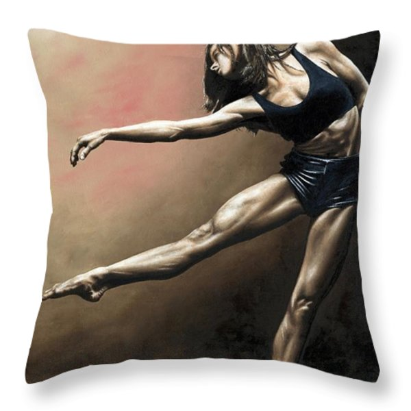 With Strength and Grace Throw Pillow by Richard Young
