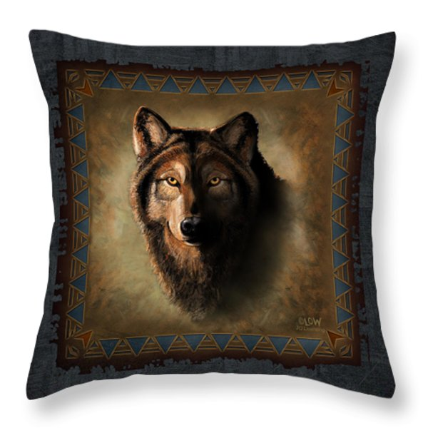 Wolf Lodge Throw Pillow by JQ Licensing