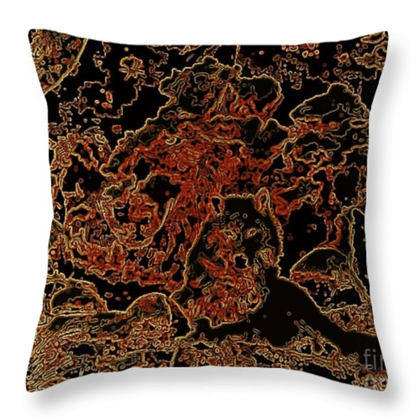 Wolf Tapestry Throw Pillow by WBK