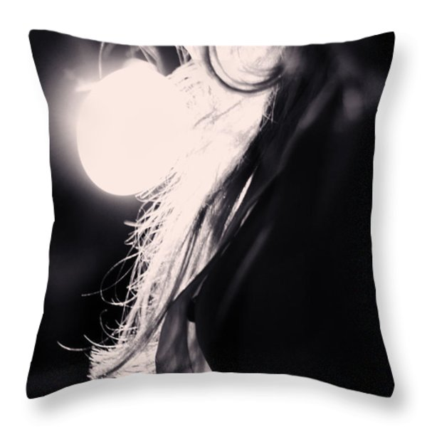 Woman Silhouette Throw Pillow by Stylianos Kleanthous