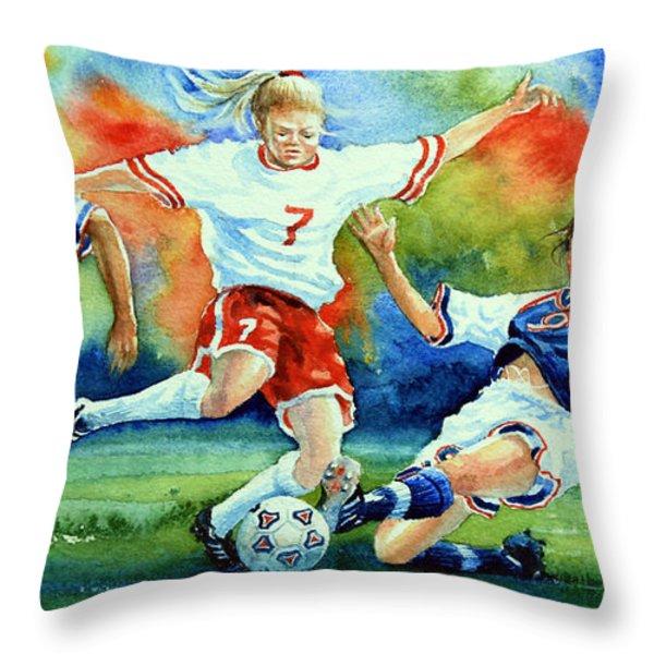 Women Throw Pillow by Hanne Lore Koehler