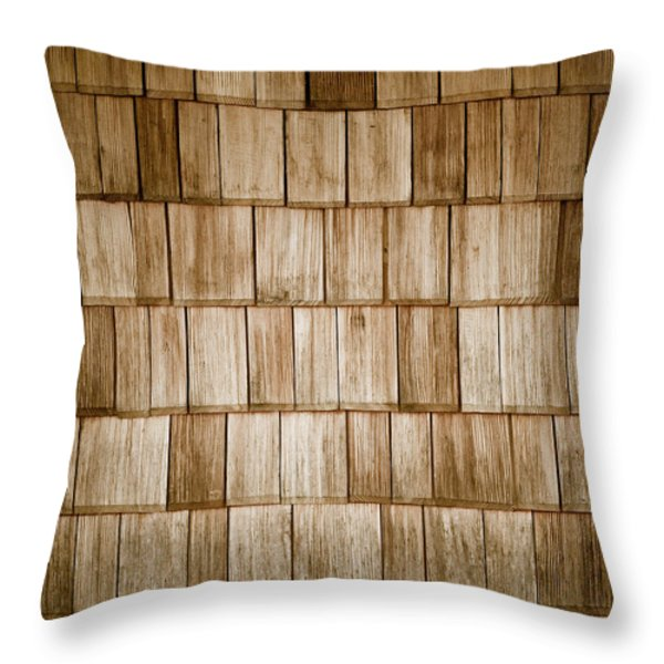 Throw Pillow featuring the photograph Wood Shingles by Frank Tschakert