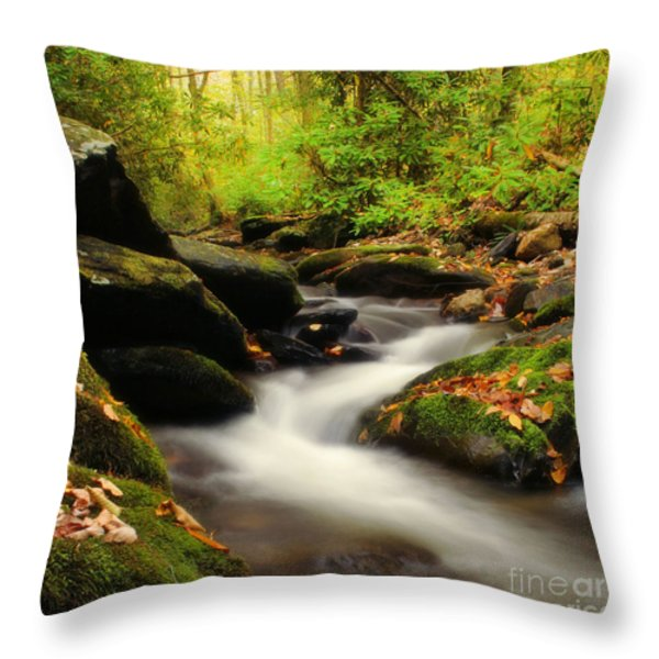 Woodland Fantasies Throw Pillow by Darren Fisher
